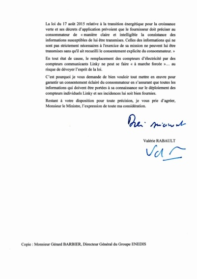 lettre de Mme Rabault